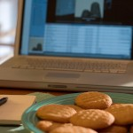 Laptop and Cookie Plate
